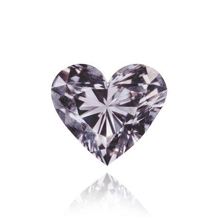 En forma de diamante de 0,25 ct Fancy Violeta Gris corazón de diamante