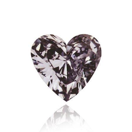 0.56 ct oscuro de lujo Violetish Gris escuchar diamante en forma