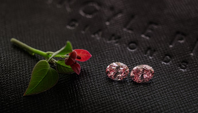 A pair of Argyle Pink Diamond Tender Diamonds