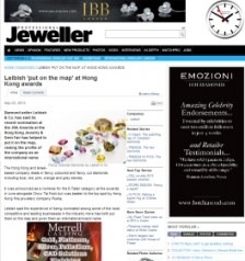 PROFESSIONAL JEWELLER - Leibish 'put on the map' at Hong Kong awards - Sp 23, 2013